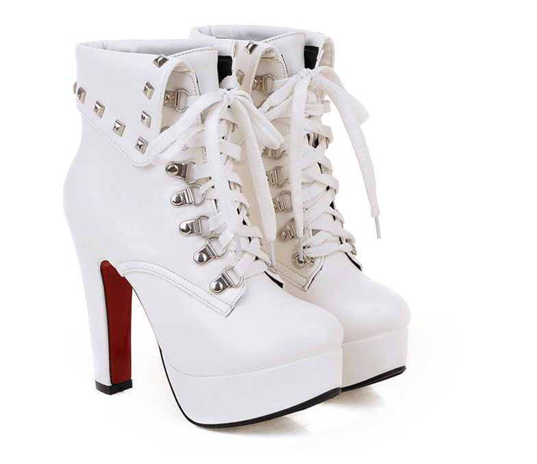 FIFI Lace-Up Heel Boots
