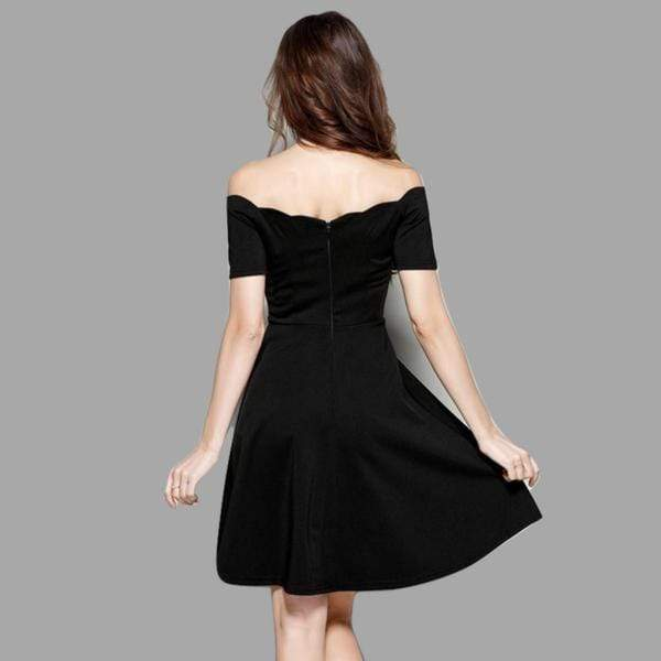 Dark Days of Summer Off Shoulder Gothic Dress