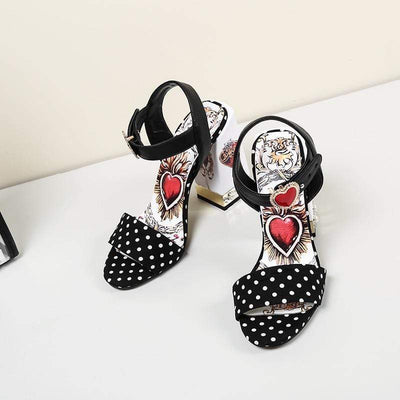 Polka Dot High Heels Sandals