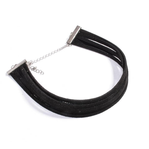 Masochism Black Velvet Choker Gothic Necklace