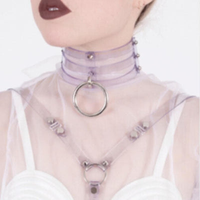 Caged Ring Choker