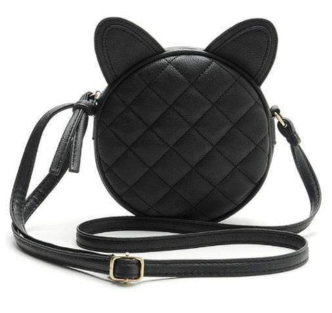 Cute Cat Leather Gothic Purse