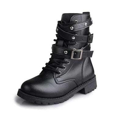 Women's Punk PU Leather Boots