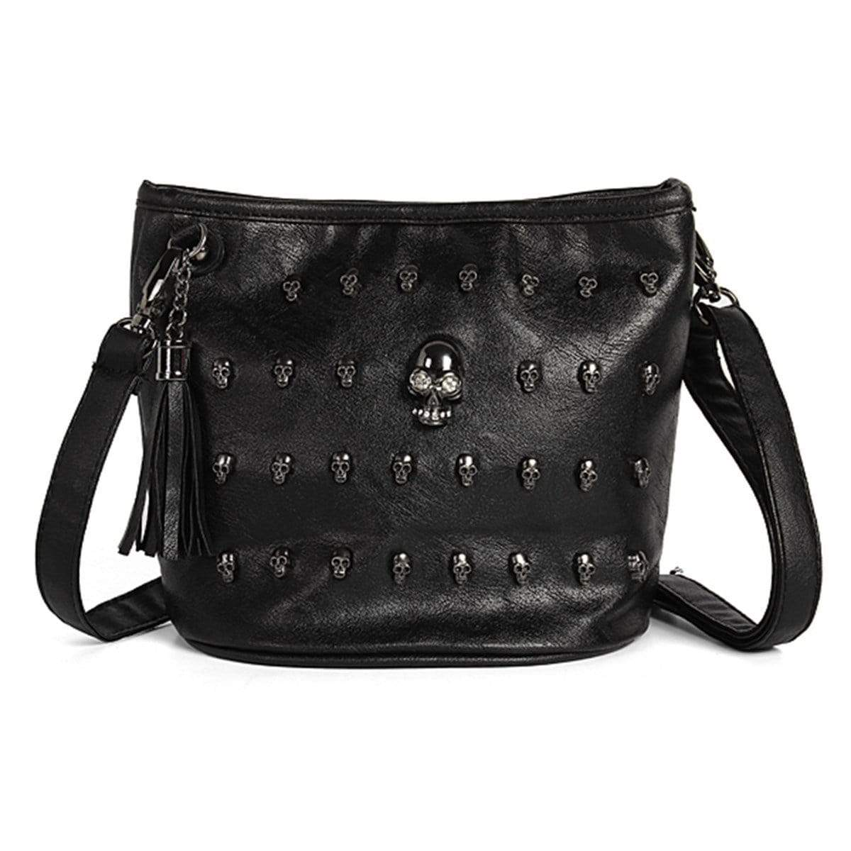 Skull face studded Gothic purse