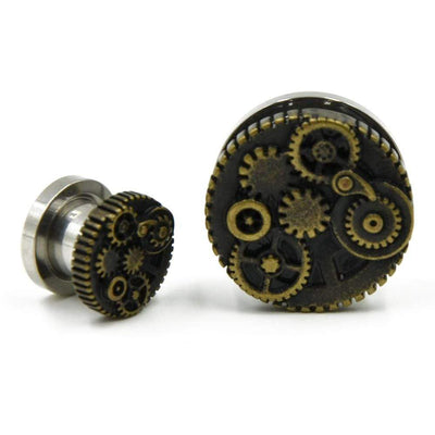 Steampunk Gears Ear Tunnels