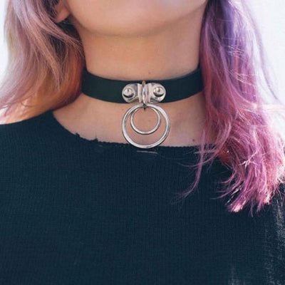 Double Ring Goth Choker