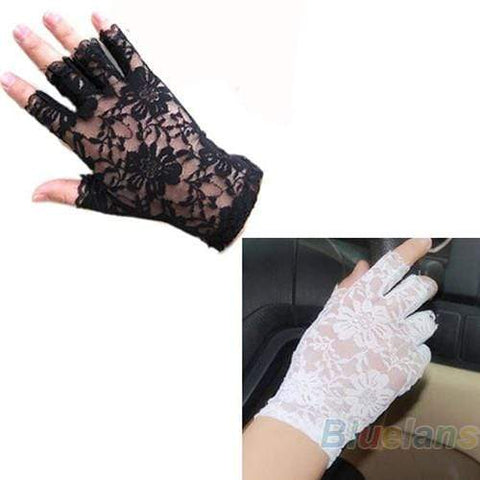 Sexy goth lace gloves