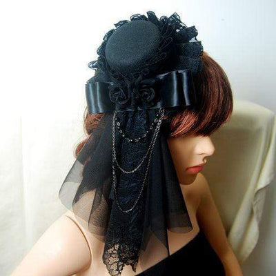 Gothic/Steampunk Mini Top Hat Hairclip