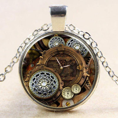 Time Dial Steampunk Necklace