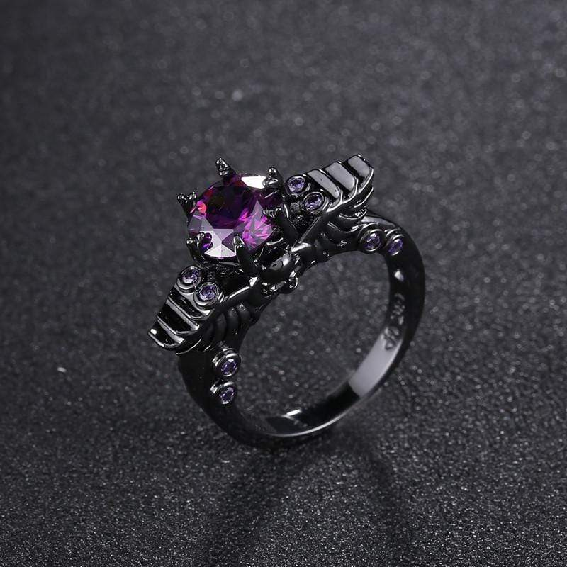 Black Gold Vintage Skull Ring