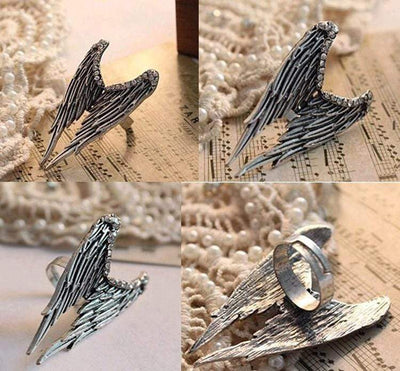 Angel Wing Gothic Ring