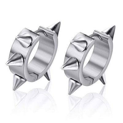 Revenant Rivet Spike Stud Gothic Earrings