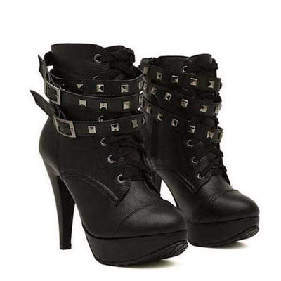 Addiction Level Event Stud'd Gothic Boots