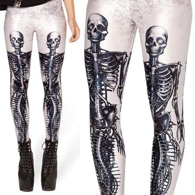 Twin Skeleton Gothic Leggings
