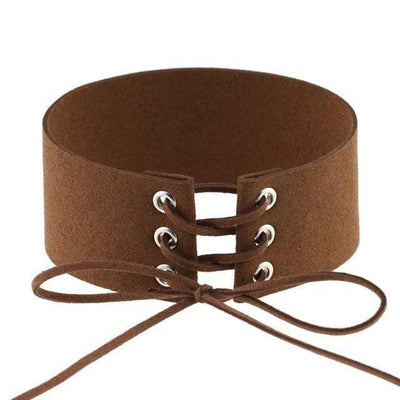 Velvet Aesthetic Lace Up Choker
