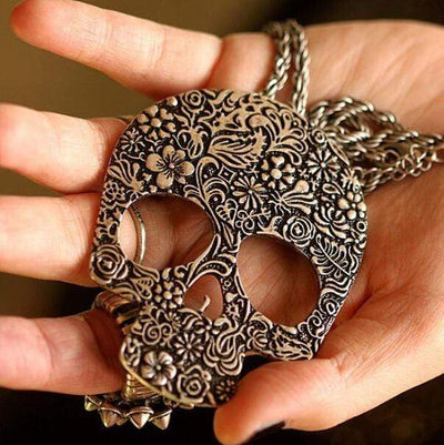 Skull Bone Gothic Necklace