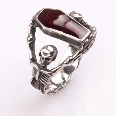 The Vampire Diaries Coffin Gothic Ring