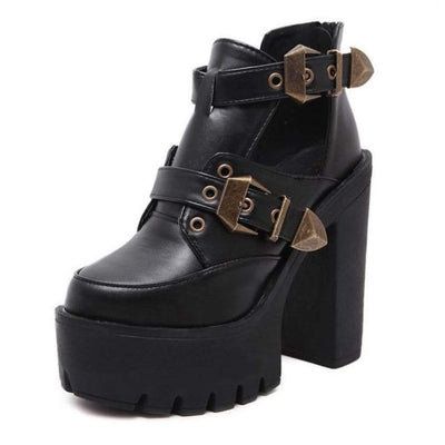 Gothic Buckle Boots