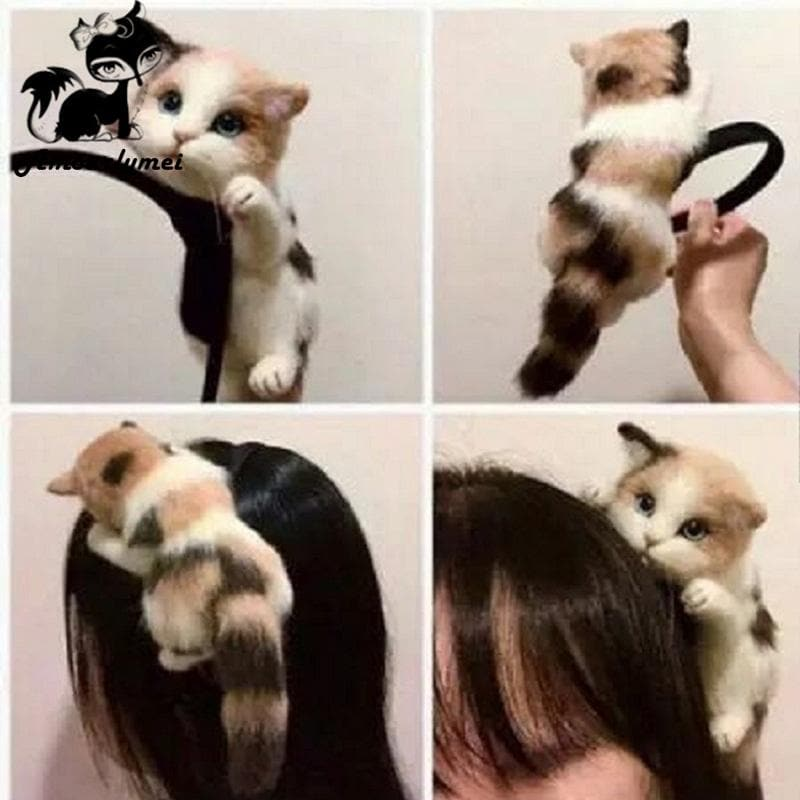 Cat Head Gothic Hairband