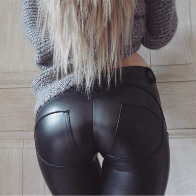 Black Faux Gothic Leggings