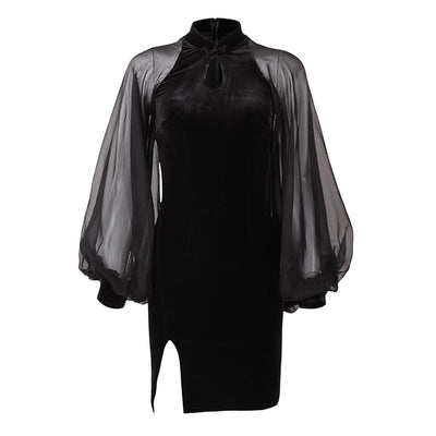 Ancestral Curse Short Gothic Dress