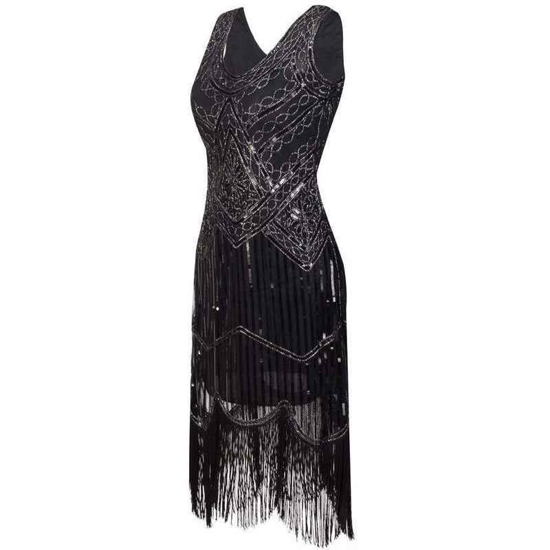 The Vintage Fringe Flapper Dress