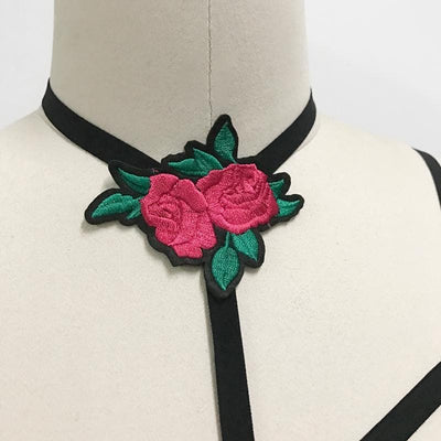 Double Gothic Rose Body Harness