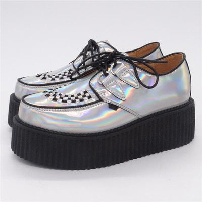 Silver High Platform Shoes
