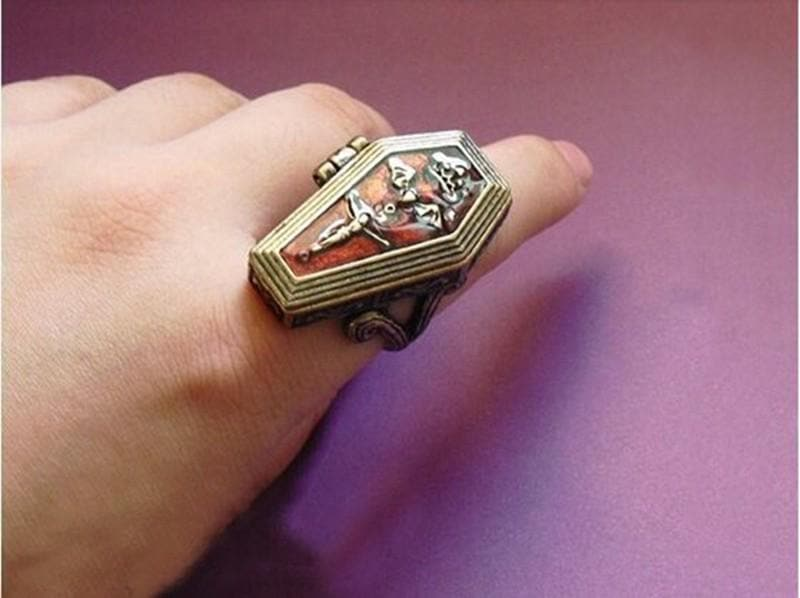 Vampire Coffin Gothic Ring