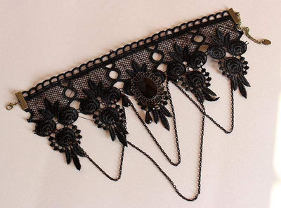 Black Lace Short Collar Gothic Choker