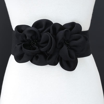 Fashion Double Chiffon Flowers Beads