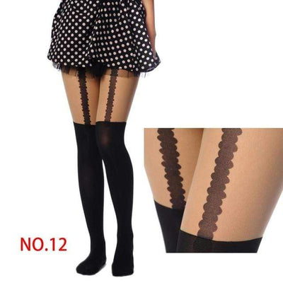 NO MIRACLE SHEER GOTHIC TIGHTS