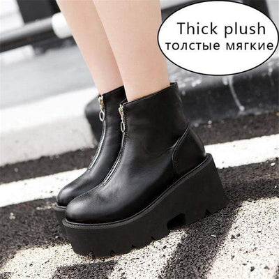 FRANKY PLATFORM GOTHIC BOOTS