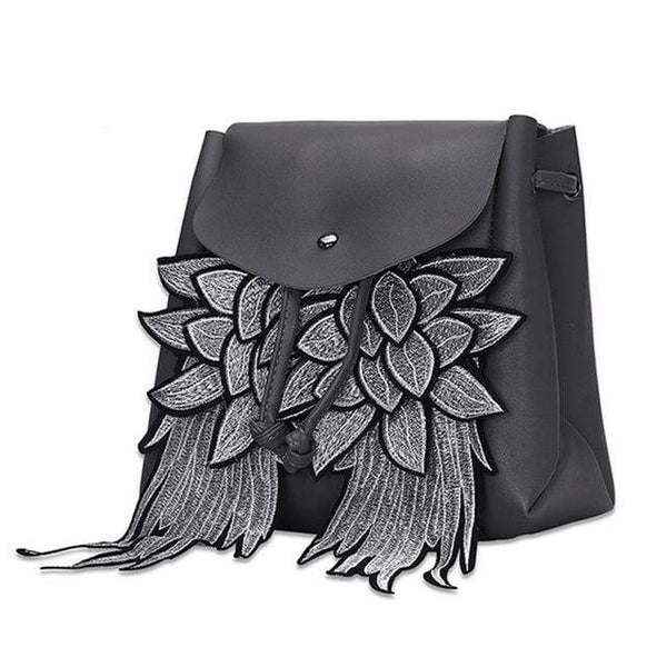 Dreaded Wings PU Leather Gothic Backpack