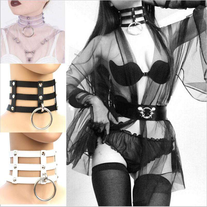 Caged Ring Gothic Choker