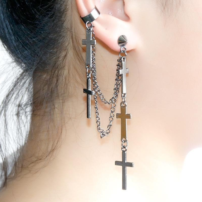 Boho Bohemian Cross Earrings