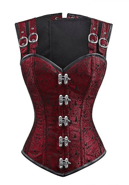 Red Brocade Sexy Corset