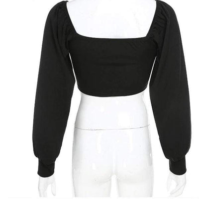 Death's Door Puff Sleeved Top