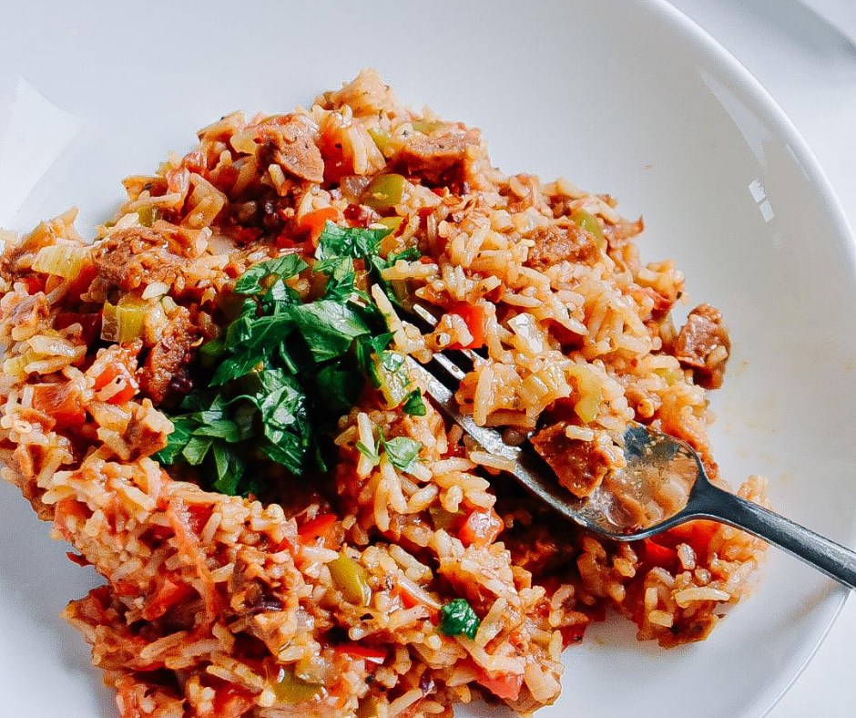 Plant-Based Jambalaya with Smokin' Bangers