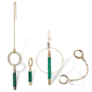 "Somewhere_Jewelry_Earring Set ""Emerald Soiree""-Earrings-"