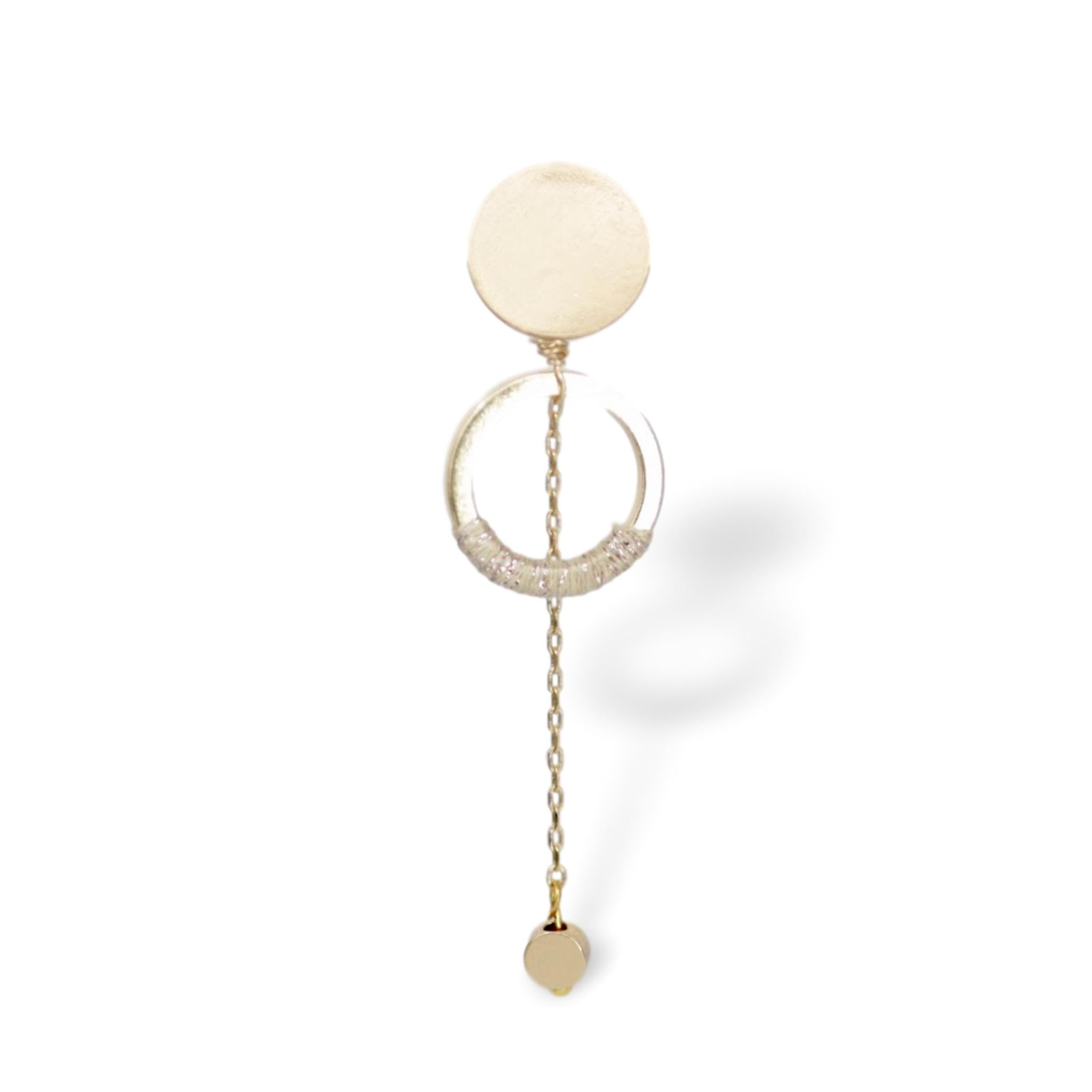 "Somewhere_Jewelry_Earring ""Luna""-Earrings-Ivory-Single-"