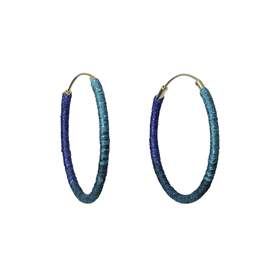 "Somewhere_Jewelry_Hoop Earrings (medium) ""Mary Beth""-Earrings-"