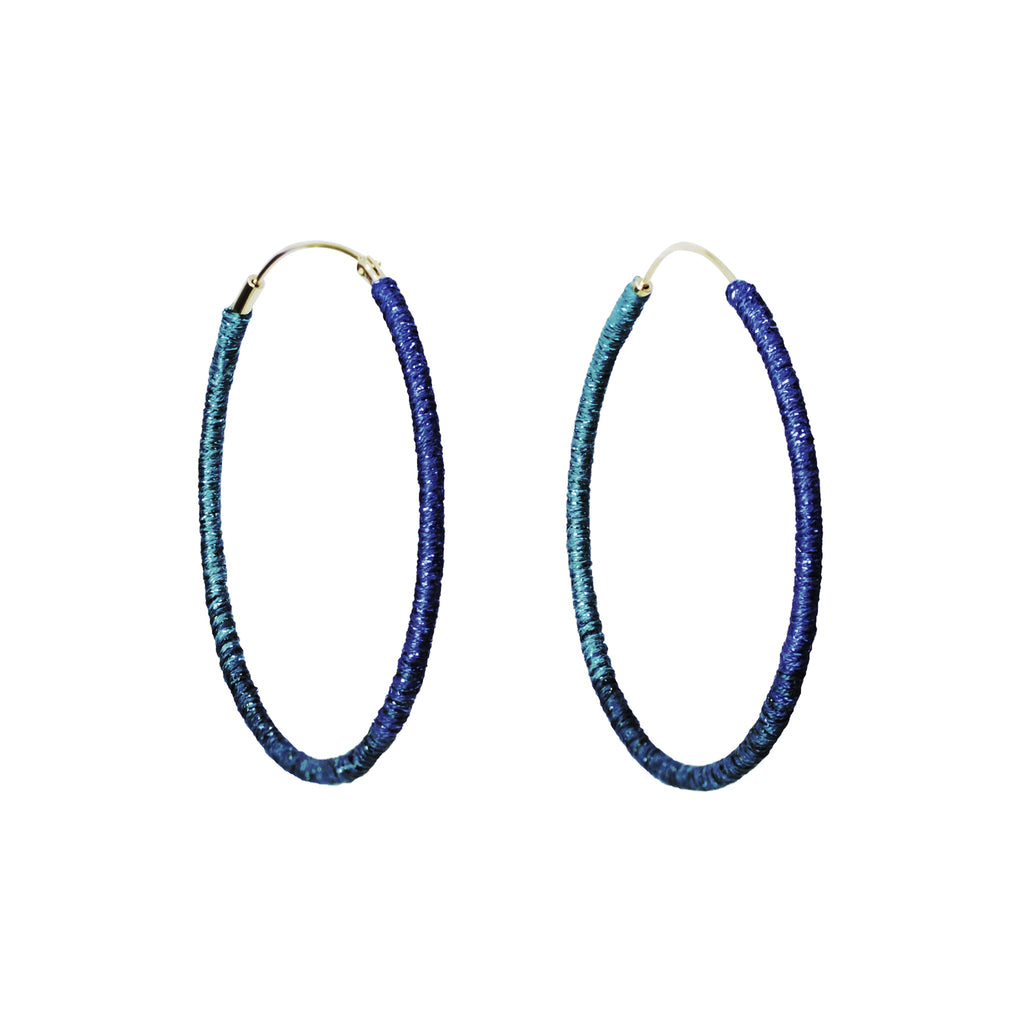 "Somewhere_Jewelry_Hoop Earrings (large) ""Mary Beth""-Earrings-"