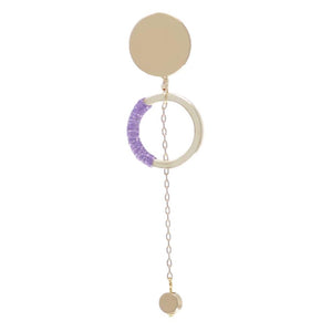 "Somewhere_Jewelry_Earring ""Luna""-Earrings-Periwinkle-Single-"