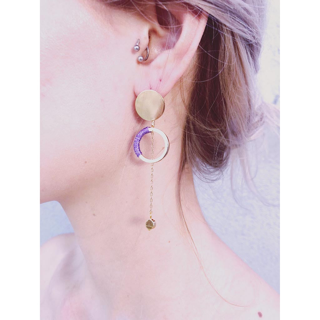 "Somewhere_Jewelry_Earring ""Luna""-Earrings-"