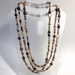 "Extra Long Bronze/Chocolate Random Pearl Necklace 72"" - © Blue Pomegranate Gallery"