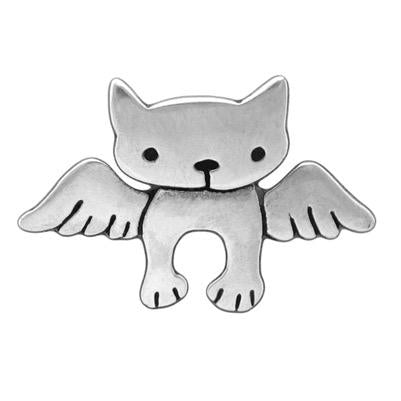 LG Sterling Silver Angel Cat Necklace by Mark Poulin