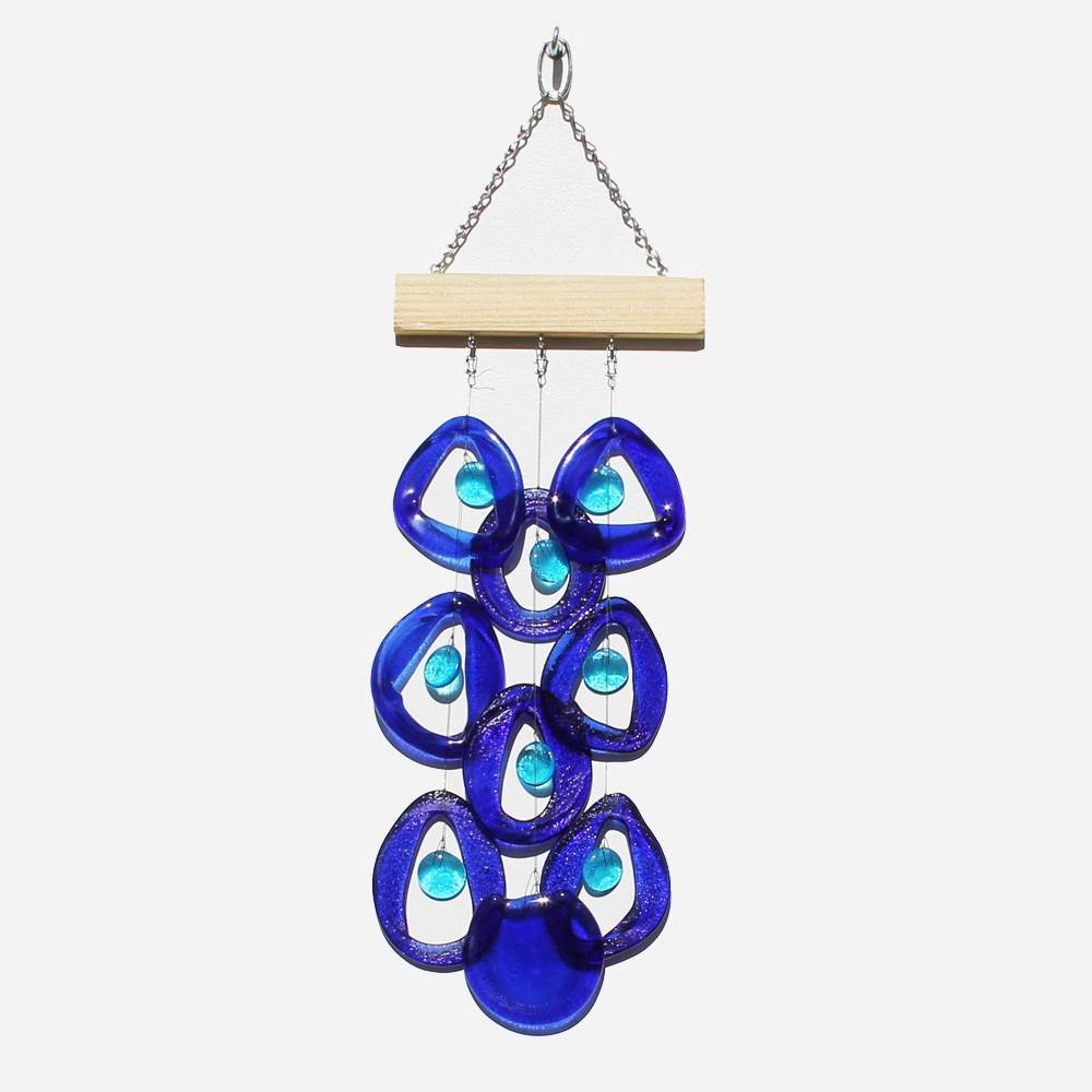 Pure Blue Wind Chime by Chalfant - © Blue Pomegranate Gallery