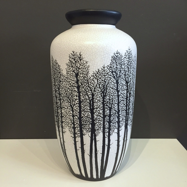 "Vase White with Trees 12 x 6"" by Tim Axtman"
