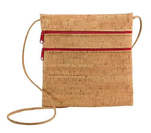 Red Zipper Be Lively 2 Double Zipper Cork Cross Body Bag - Natalie DiBello - © Blue Pomegranate Gallery